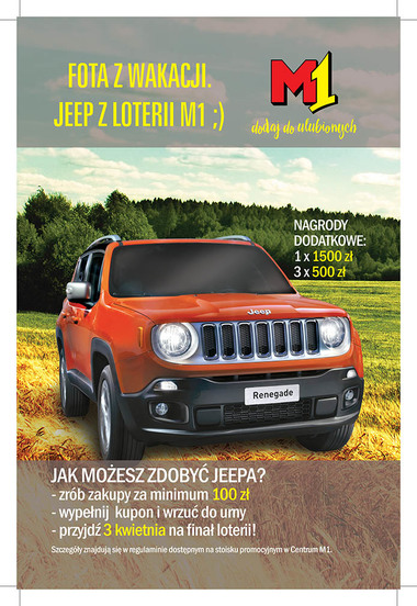 Jeep® Renegade do wygrania