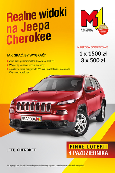 Jeep® Cherokee do wygrania w M1